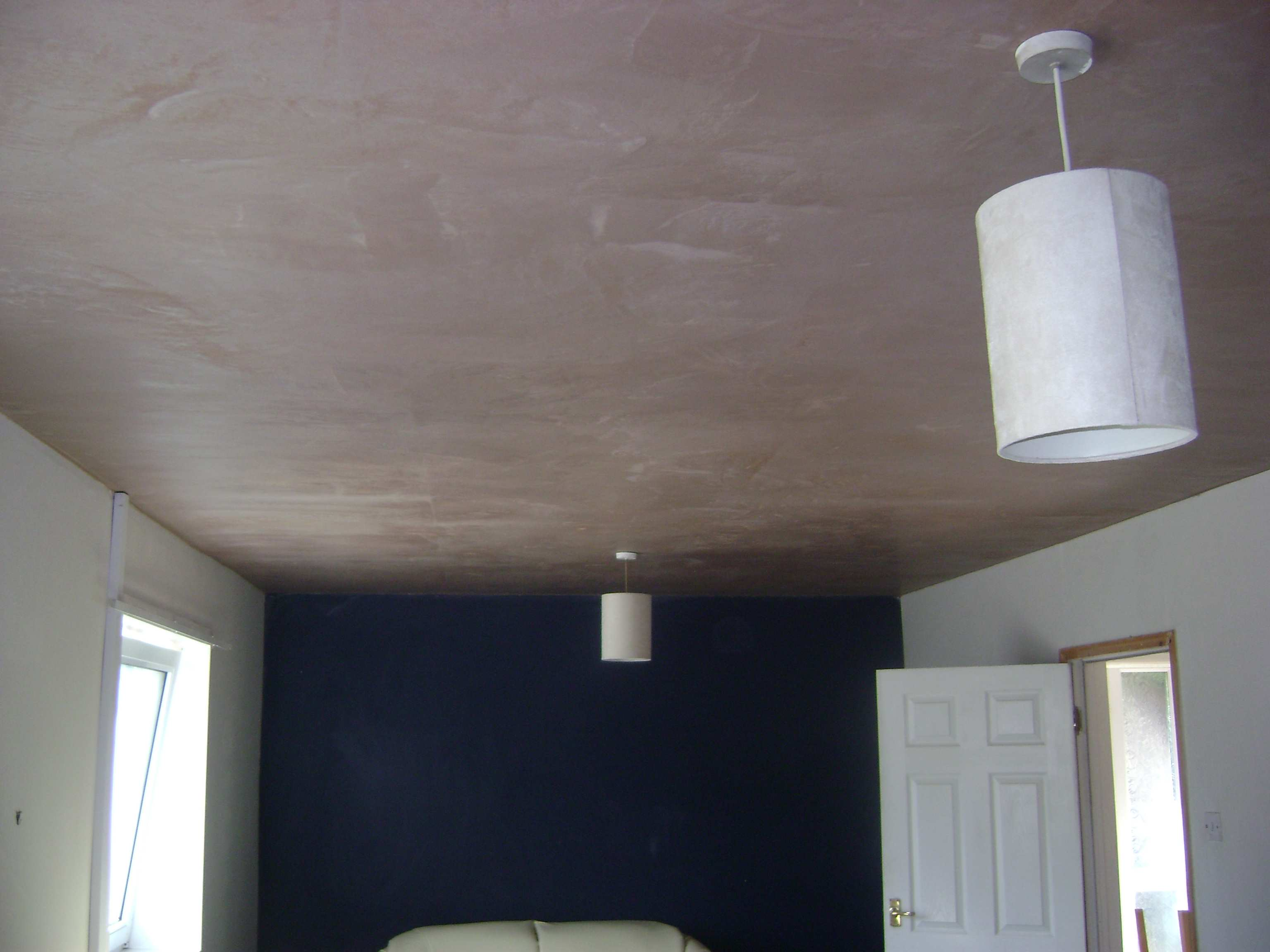 The ceiling once plastering is completed