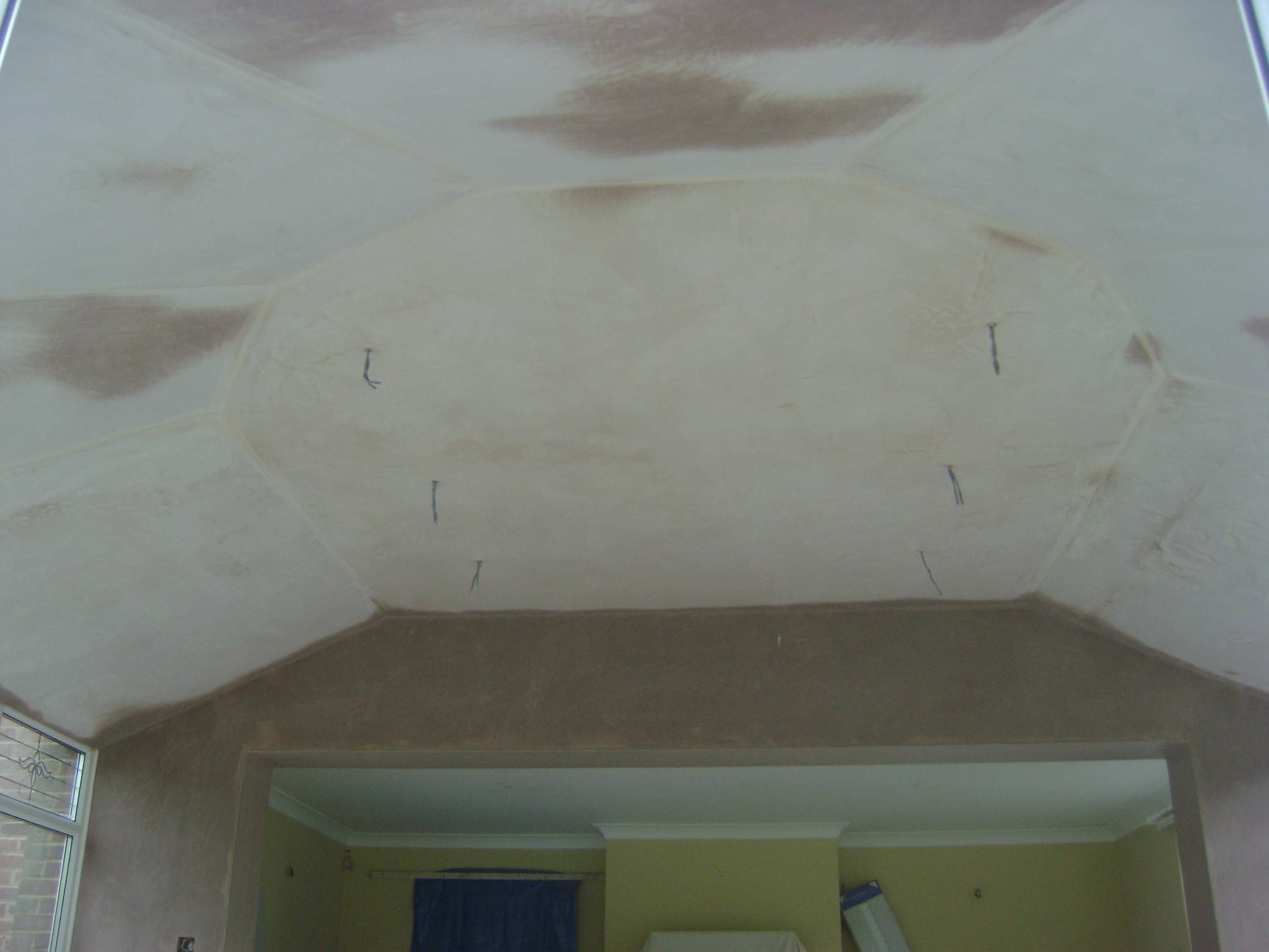 Once we had finished the plasterboard it was then plastered to finish, again we had to pay attention to detail to keep all the panels identical